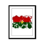 Burkina Faso Flag Framed Panel Print