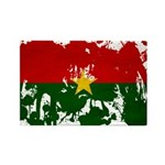 Burkina Faso Flag Rectangle Magnet (100 pack)