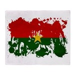 Burkina Faso Flag Throw Blanket