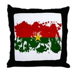 Burkina Faso Flag Throw Pillow