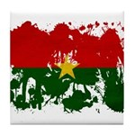 Burkina Faso Flag Tile Coaster