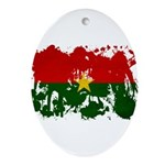 Burkina Faso Flag Ornament (Oval)