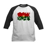 Burkina Faso Flag Kids Baseball Jersey