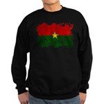 Burkina Faso Flag Sweatshirt (dark)