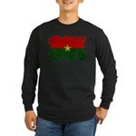 Burkina Faso Flag Long Sleeve Dark T-Shirt