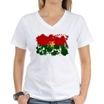 Burkina Faso Flag Women's V-Neck T-Shirt