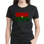 Burkina Faso Flag Women's Dark T-Shirt