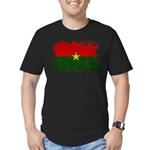 Burkina Faso Flag Men's Fitted T-Shirt (dark)