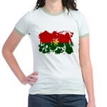 Burkina Faso Flag Jr. Ringer T-Shirt