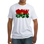 Burkina Faso Flag Fitted T-Shirt