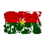 Burkina Faso Flag 38.5 x 24.5 Wall Peel