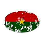 Burkina Faso Flag 38.5 x 24.5 Oval Wall Peel