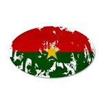 Burkina Faso Flag 22x14 Oval Wall Peel