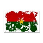 Burkina Faso Flag Car Magnet 20 x 12