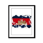 Cambodia Flag Framed Panel Print