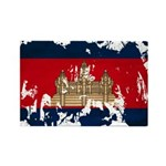 Cambodia Flag Rectangle Magnet (100 pack)