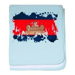 Cambodia Flag baby blanket