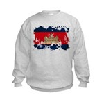 Cambodia Flag Kids Sweatshirt