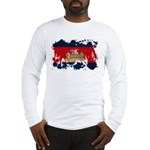 Cambodia Flag Long Sleeve T-Shirt