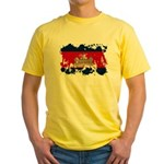 Cambodia Flag Yellow T-Shirt