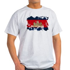 Cambodia Flag Light T-Shirt