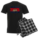 Cambodia Flag Men's Dark Pajamas