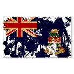 Cayman Islands Flag Sticker (Rectangle 10 pk)