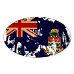 Cayman Islands Flag Sticker (Oval 10 pk)