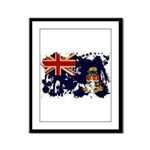 Cayman Islands Flag Framed Panel Print