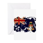 Cayman Islands Flag Greeting Cards (Pk of 10)