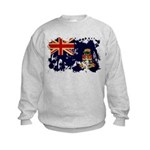Cayman Islands Flag Kids Sweatshirt