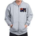 Cayman Islands Flag Zip Hoodie