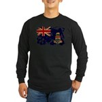 Cayman Islands Flag Long Sleeve Dark T-Shirt