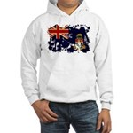 Cayman Islands Flag Hooded Sweatshirt