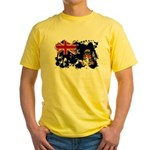 Cayman Islands Flag Yellow T-Shirt