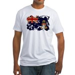 Cayman Islands Flag Fitted T-Shirt