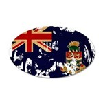 Cayman Islands Flag 22x14 Oval Wall Peel