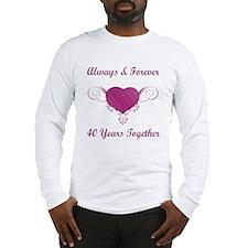 40th Anniversary Heart Long Sleeve T-Shirt