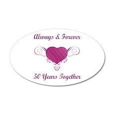 50th Anniversary Heart 22x14 Oval Wall Peel