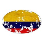 Colombia Flag Sticker (Oval 50 pk)