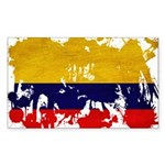Colombia Flag Sticker (Rectangle)