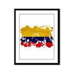 Colombia Flag Framed Panel Print