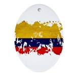 Colombia Flag Ornament (Oval)
