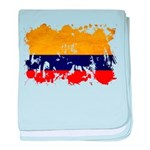 Colombia Flag baby blanket