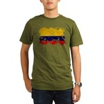 Colombia Flag Organic Men's T-Shirt (dark)