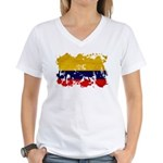 Colombia Flag Women's V-Neck T-Shirt