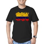 Colombia Flag Men's Fitted T-Shirt (dark)