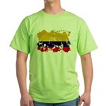 Colombia Flag Green T-Shirt
