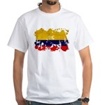 Colombia Flag White T-Shirt