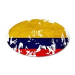 Colombia Flag 22x14 Oval Wall Peel